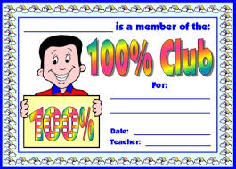 100 percent club