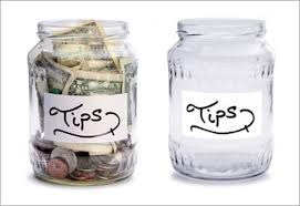 two tip jars