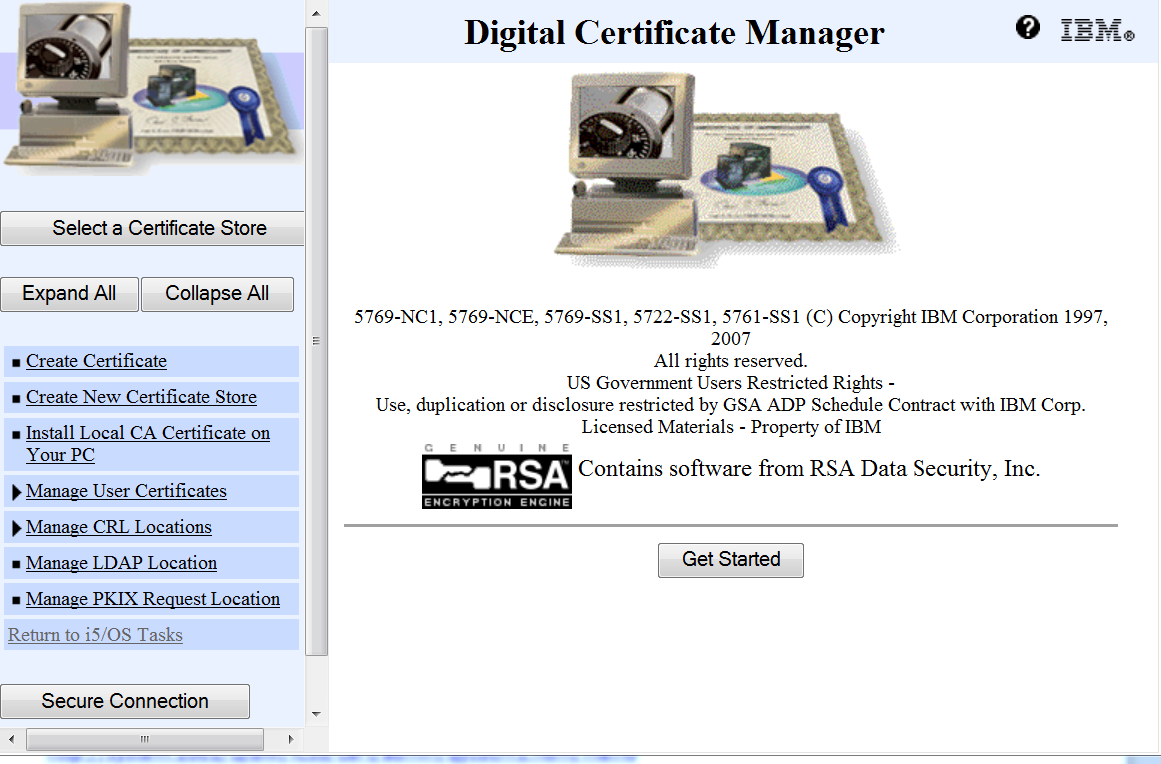 digital certificate manager