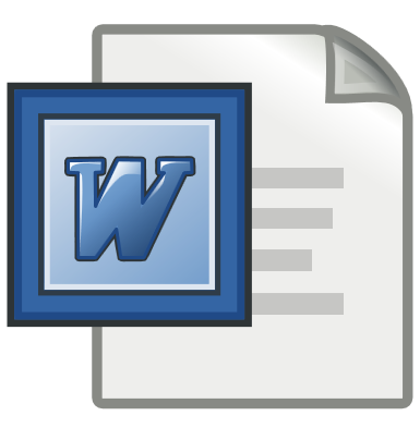MS Word stylized logo