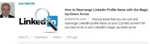 LinkedIn--sample status update