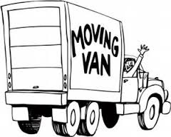 royalty free moving truck