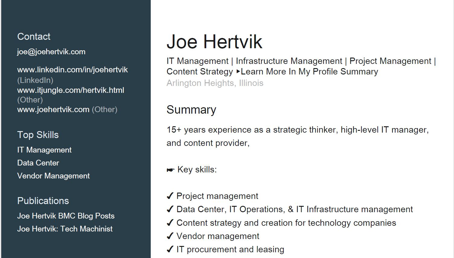 There are two ways to print your LinkedIn profileJoe Hertvik: Tech