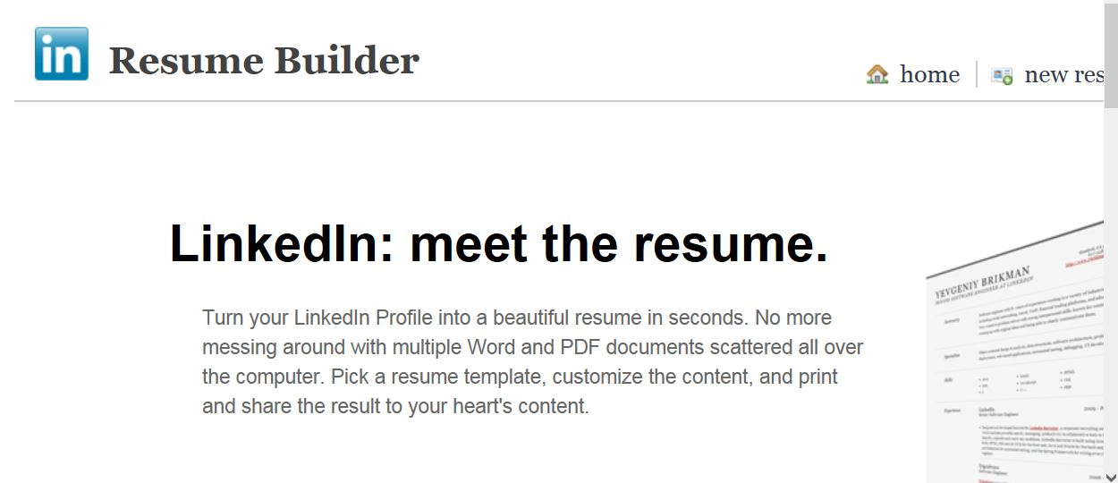 Gentil Linkedin Resume Builder
